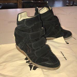 Isabel Marant Bekket wedge sneakers black 37